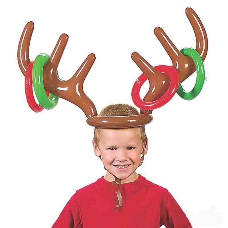 Christmas Game Inflatable Reindeer Antler Hat