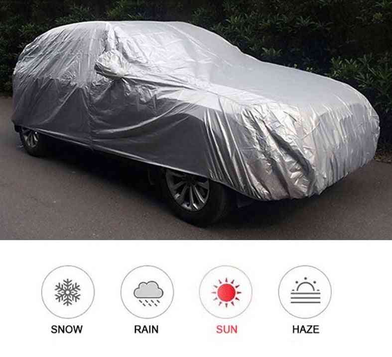 Waterproof Full Cars Cover Auto Sunshade, Snow Dust Uv Resistant Protector