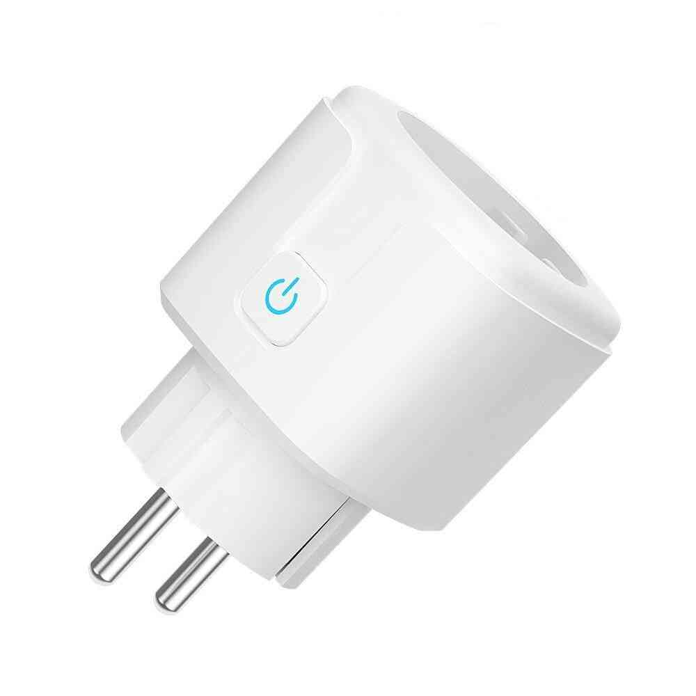 Wifi Smart Plug Socket Tuya Smart Life App Work With Voice Control Power Monitor