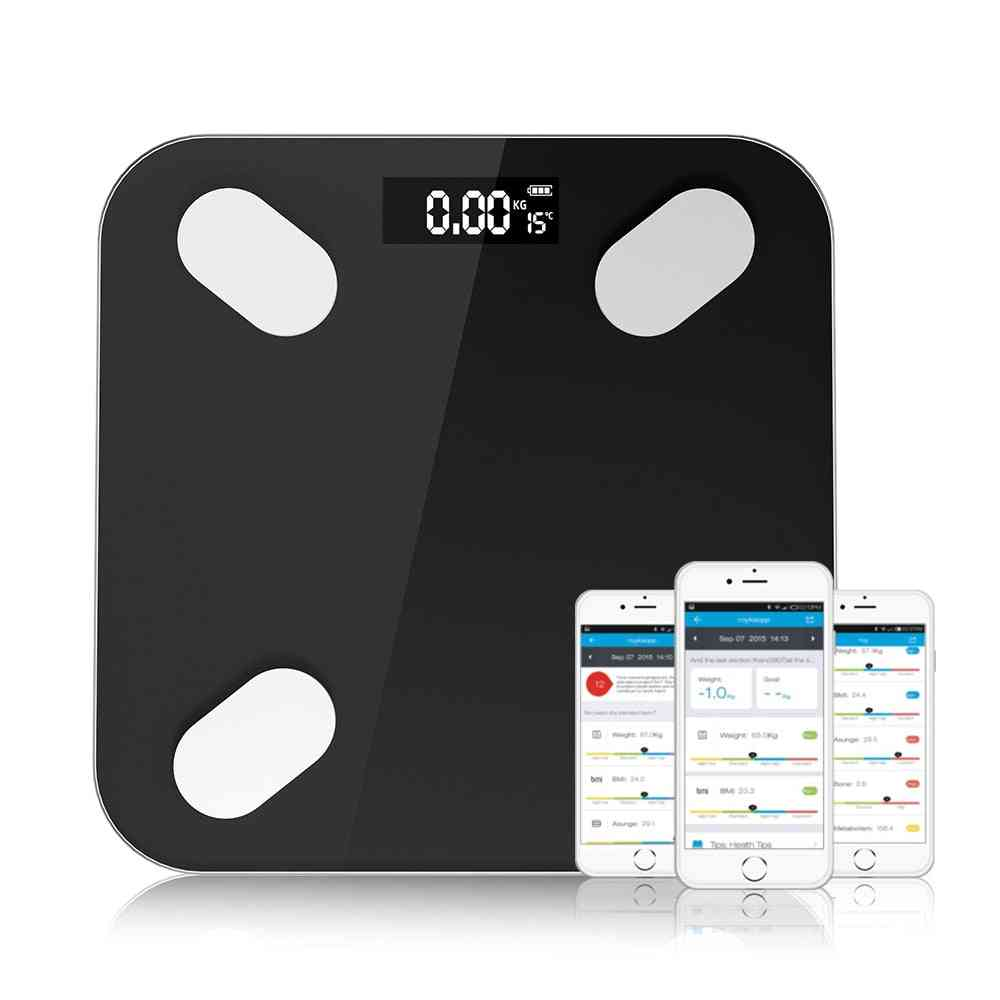 Body Fat Floor Digital Weight Scale Body Composition Analyzer Health Monitor