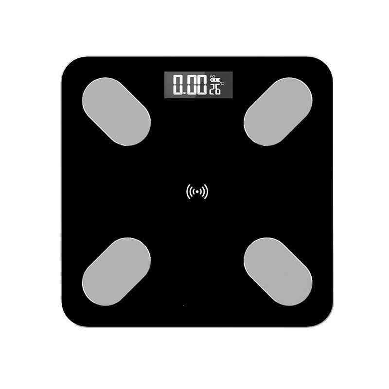 26*26cm Body Fat Scale Smart Bmi Scale Led Digital Weight Scale