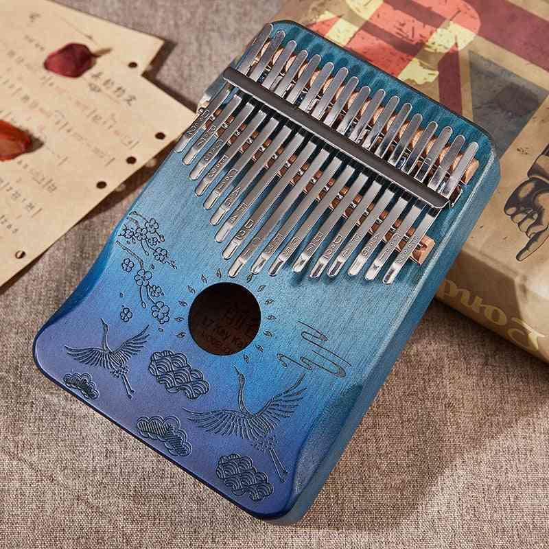 Kalimba Mahogany Thumb Piano, Musical Instrument Finger