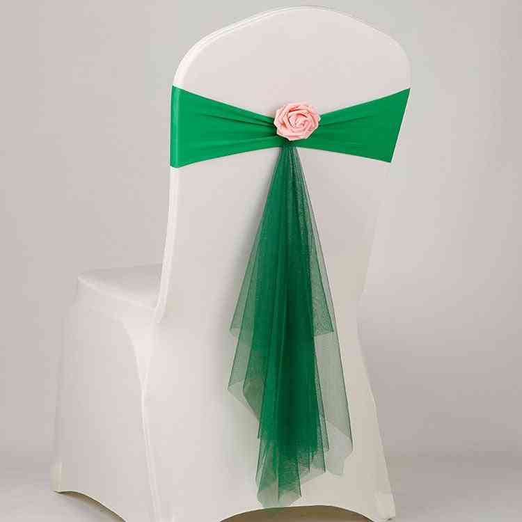 Spandex  Chair Sash Wedding Lycra Bow Tie Band