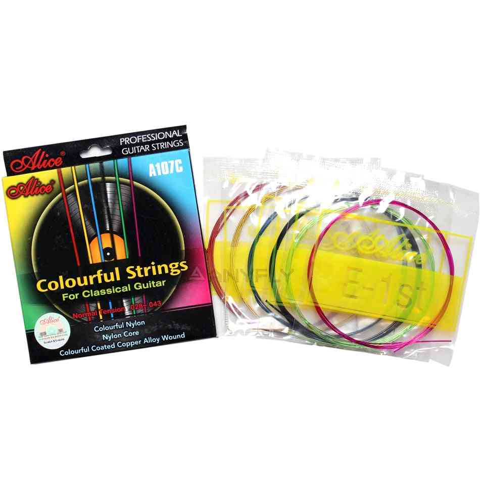 Guitar Strings, Nylon Coated Copper Alloy Wound
