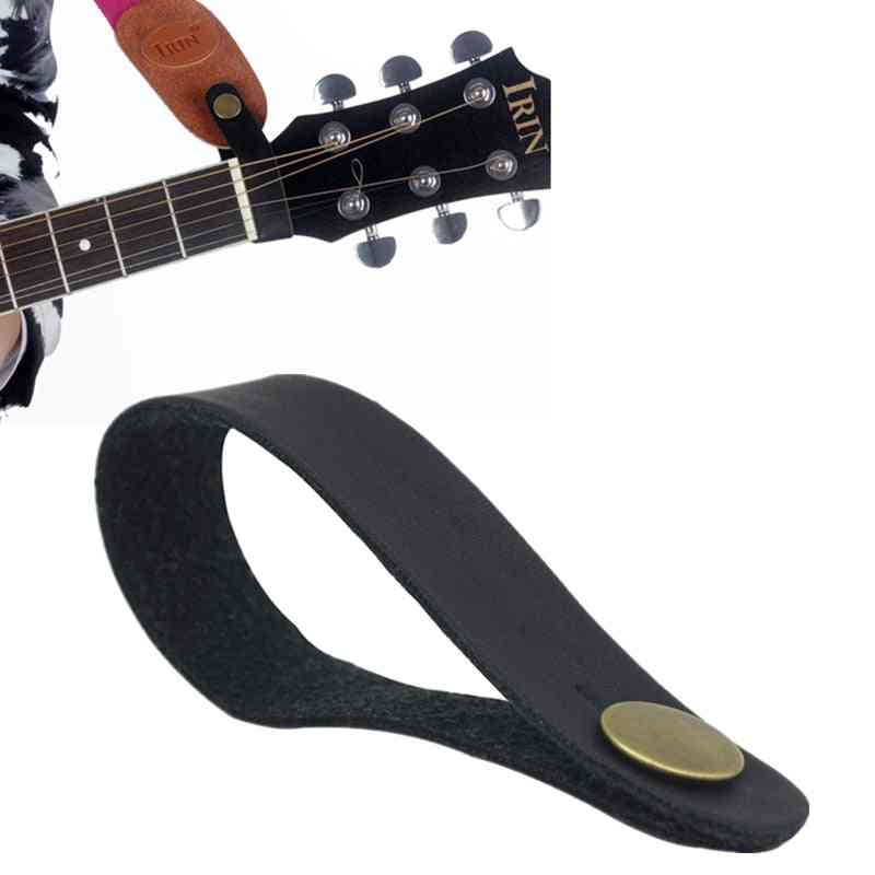 Leather Guitar Strap Holder, Button Safe Lock For Acoustic Electric, Classic Bass Accessories