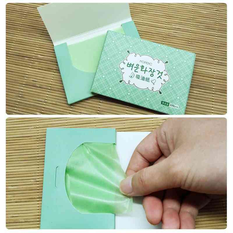 100pcs Facial Oil Blotting Papers Oil Absorbing Sheets