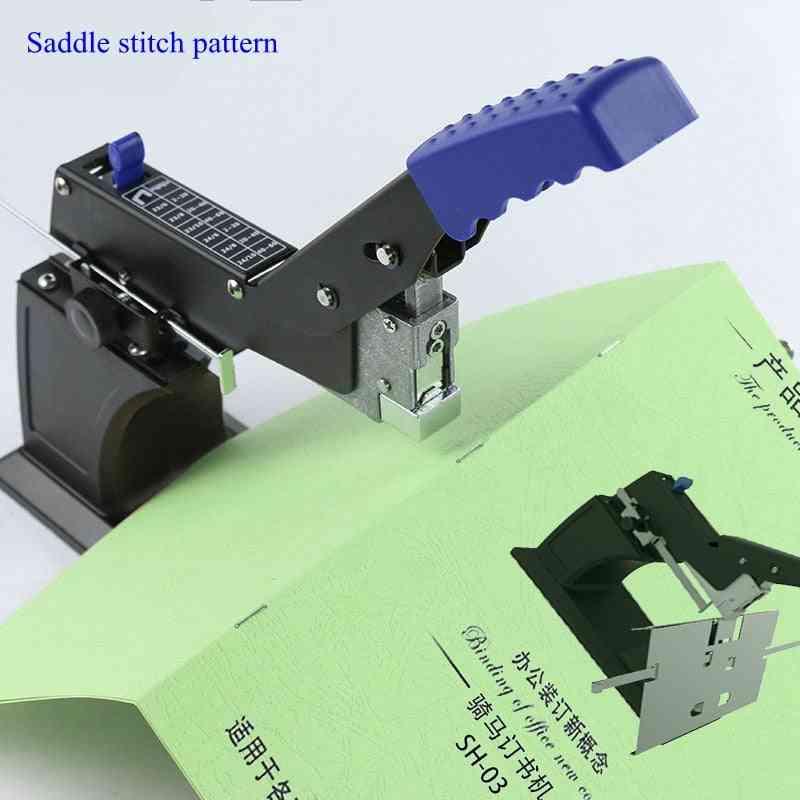 Large Heavy Saddle Stitch Binding Machine Center Seam Stapler A3 Binding Machine
