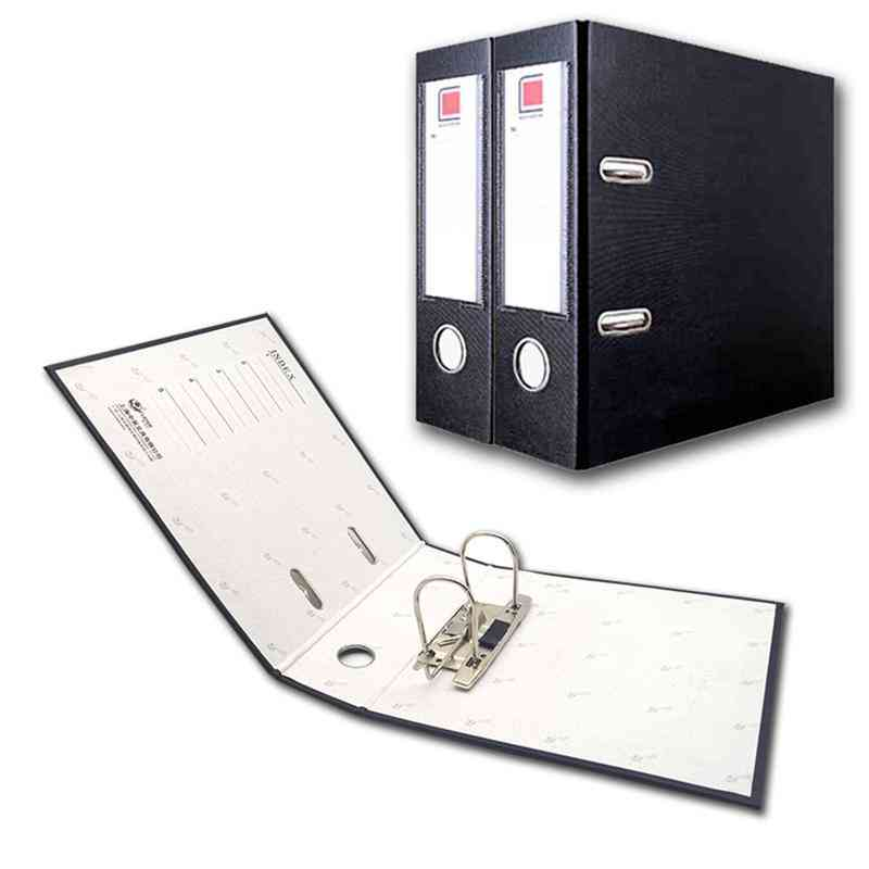 Plastic Lever Arch File Folders With Clip And Finger Grip Hole, Document Holder, Organizer
