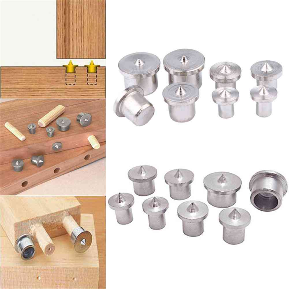Solid Dowel Pins, Center Point Set, Woodworking Dowel Tenon  Set, Tool Power Accessories