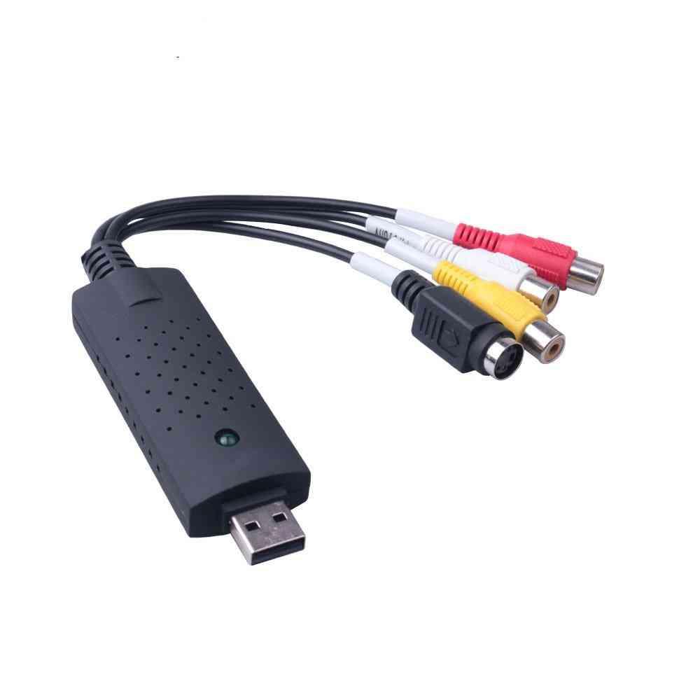 Usb Video Capture Card Converter Pc Adapter Tv Audio Dvd Dvr Vhs