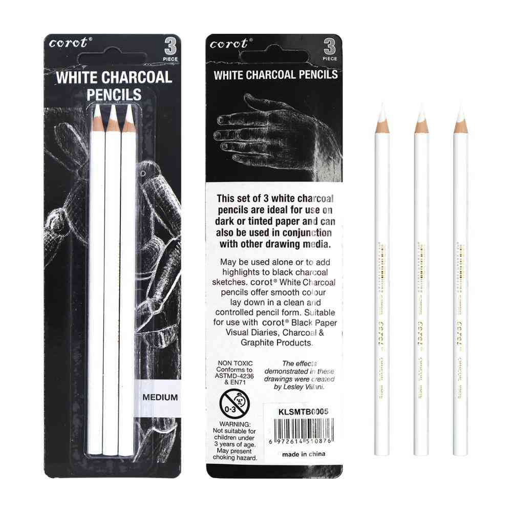 White Highlight Sketch Charcoal Standard Pencil For Drawing