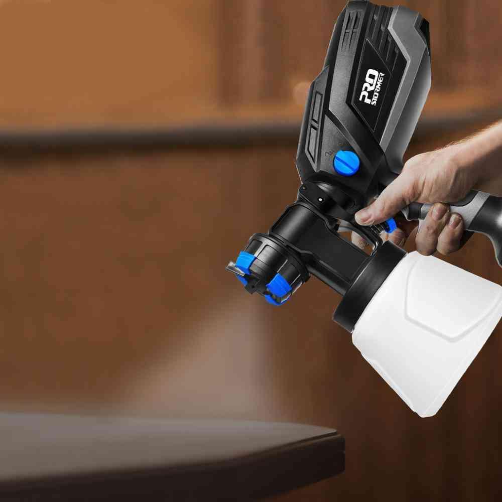 Spray Gun, Paint Sprayer Electric Nozzle, Hvlp Household, Flow Control Airbrush, Easy Spraying By Prostormer