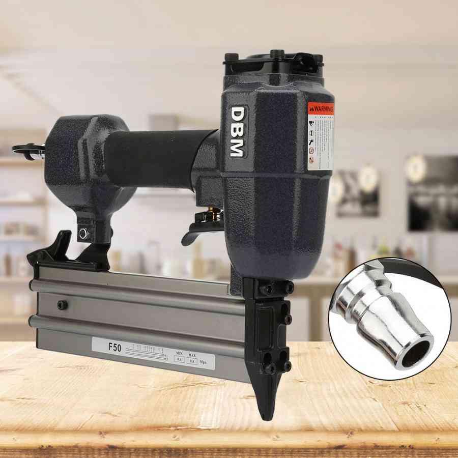 Pneumatic Nail Gun, Woodworking Air Nailing Tool, Stapler Straight, Furniture Staple Nailer