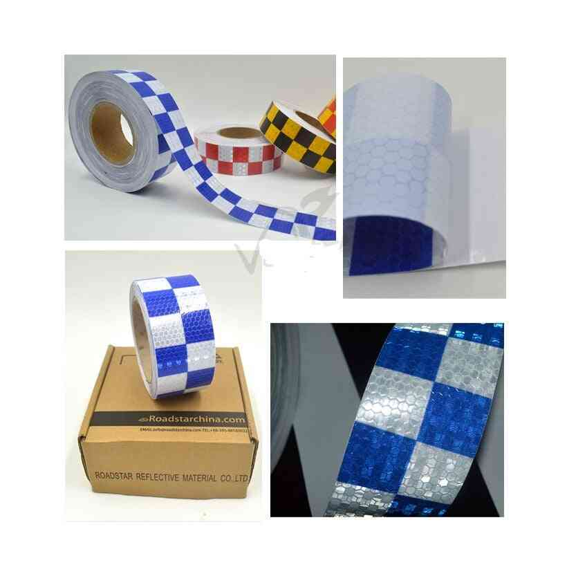 Shining Blue White Color Square Self-adhesive Reflective Warning Tape