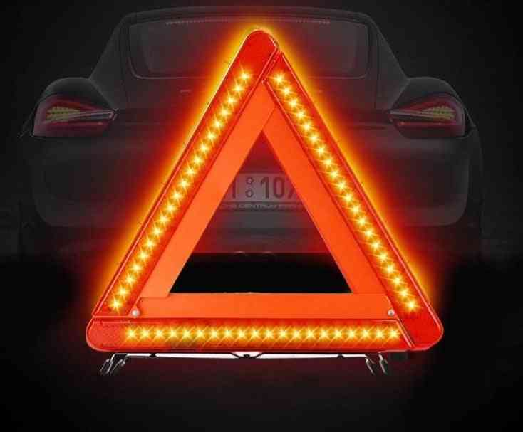 Foldable Car Reflective Triangle Warning Sign Road Traffic Tool Farewell
