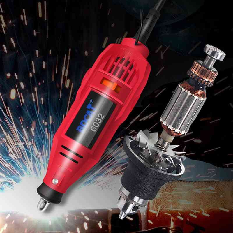 Mini Grinder Hand Drill Power Tools, Electric Polishing Machine With Rotary Dremel Accessories Kit Set