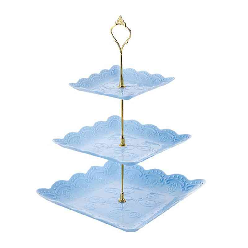 European Style 3 Tier Pastry Cupcake Detachable Cake Stand