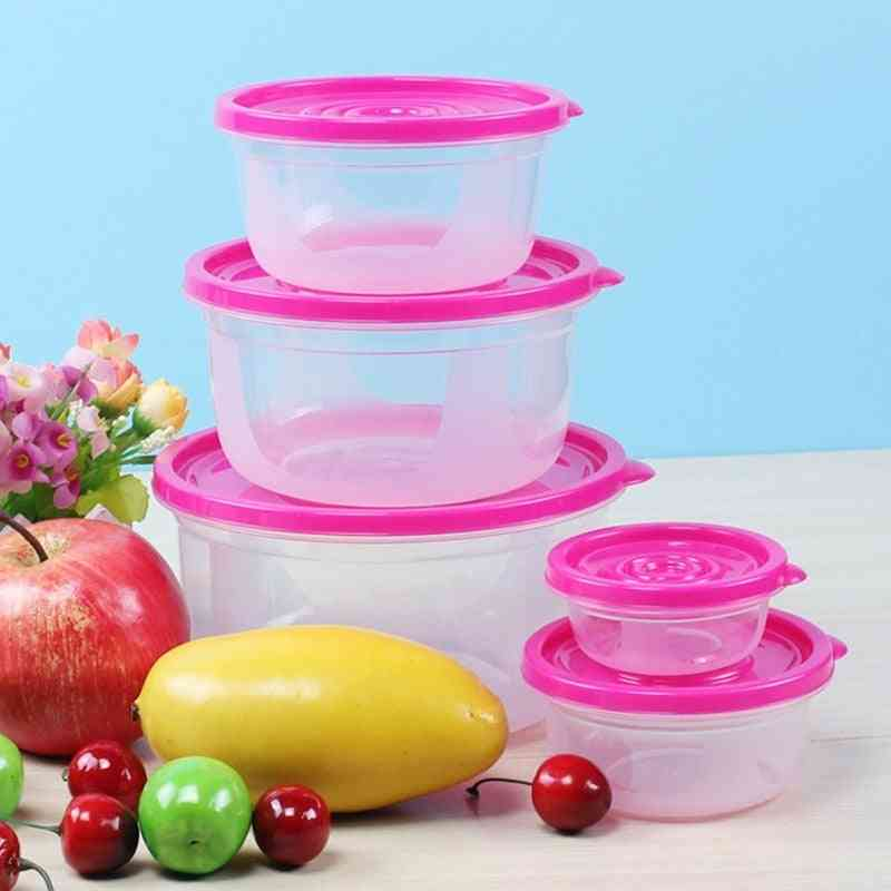 Plastic Portable Bowl Food Container, Lunchbox