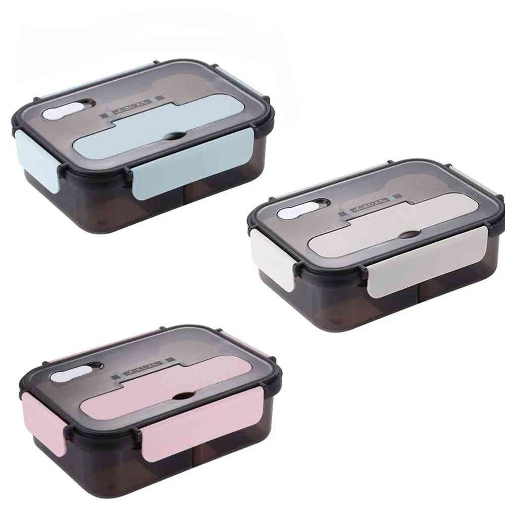 Travel Microwave Heating Food Container Plastic Bento Box