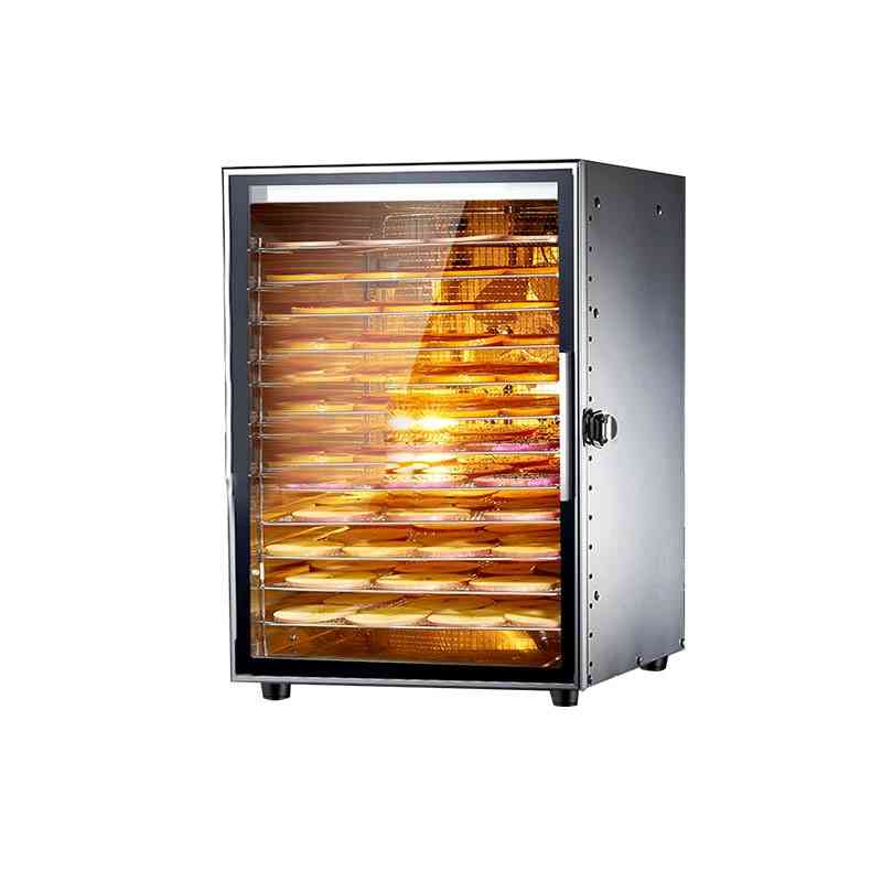 12 Layers Trays Food Dehydrator Stainless Steel Snacks Dehydration Dryer Fruit Vegetable Herb Meat Drying Machine