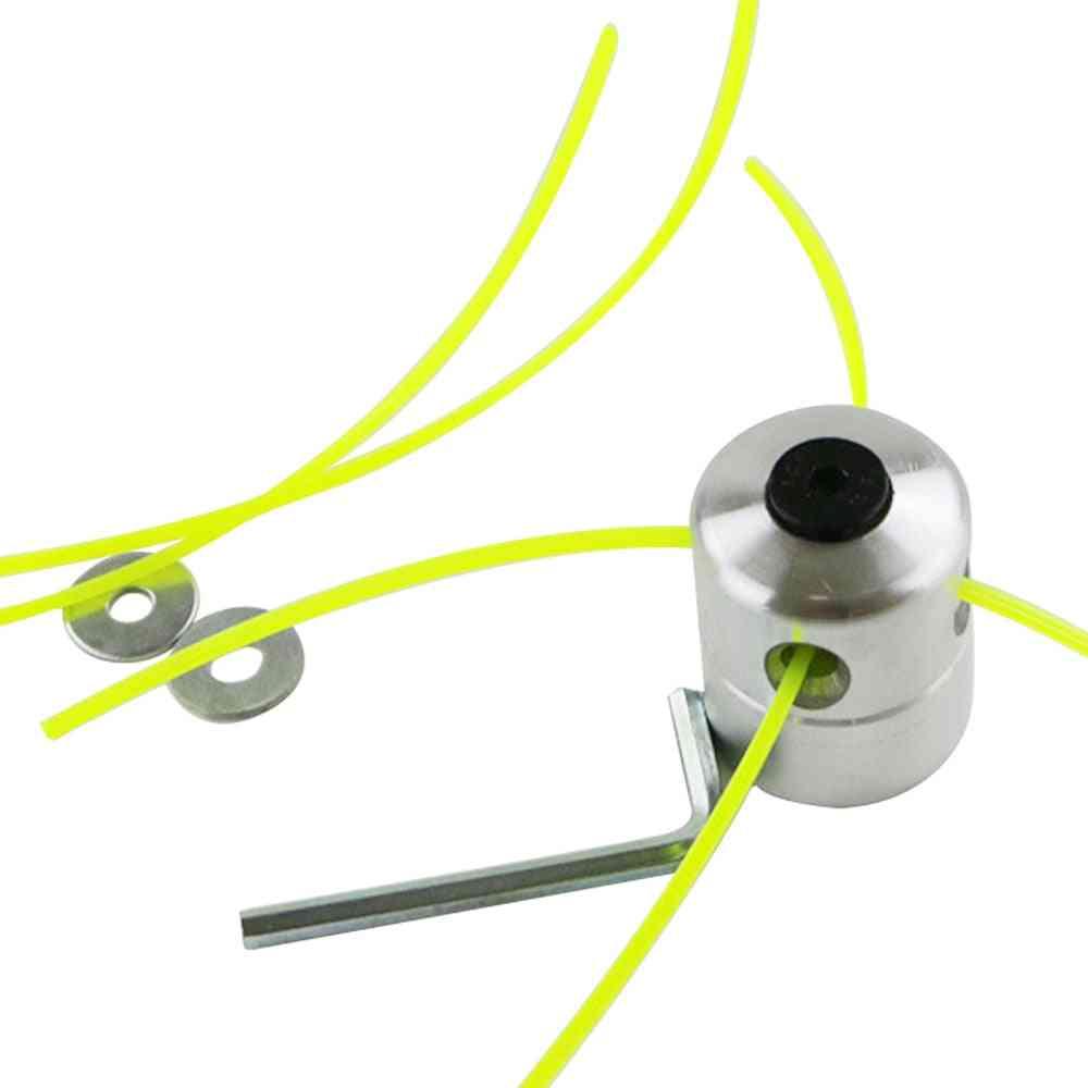 Aluminum Grass Trimmer Brush Cutter Head, Lawn Mower Accessories, Cutting Line For Strimmer Replacement