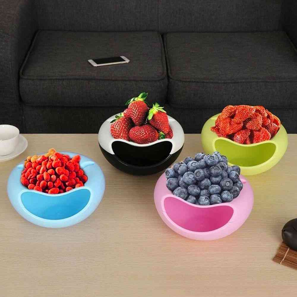 Plastic Double-layer Phone And Fruit Mobile Bowl
