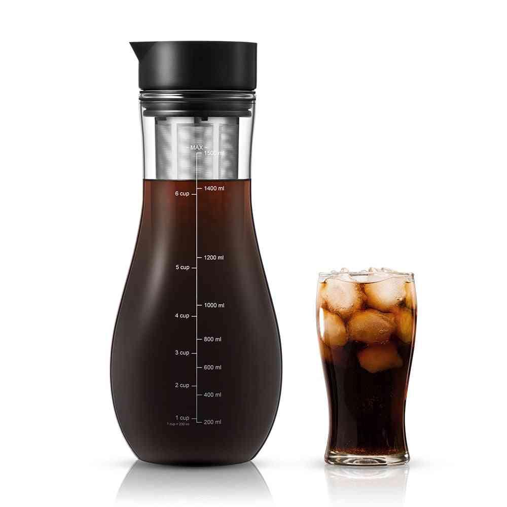 Dual-use Filter Coffee&tea Pot Espresso Ice Drip Maker Glass Pots