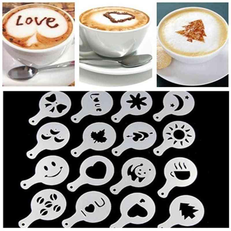 Mold Coffee Milk Cake Cupcake Stencil Template