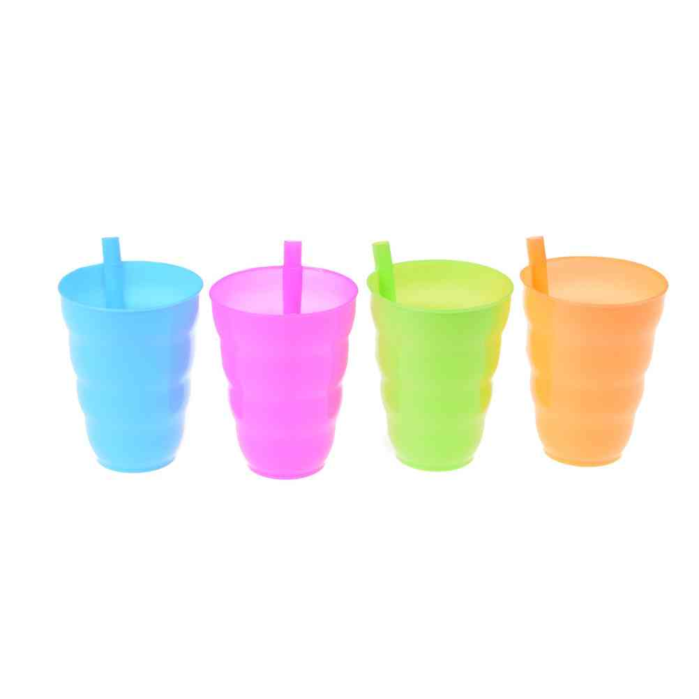 Children Infant Baby Sip Cup With Built-in Straw Mug
