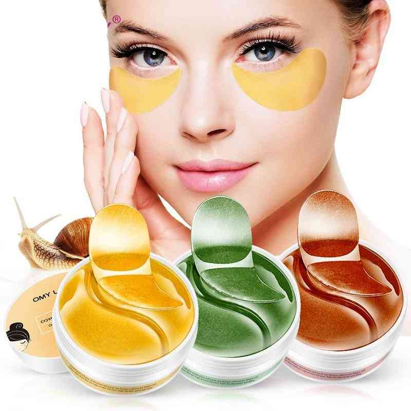 Eye Patch Mask Collagen Against Wrinkles Dark Circles Care Eyes Bags Pads