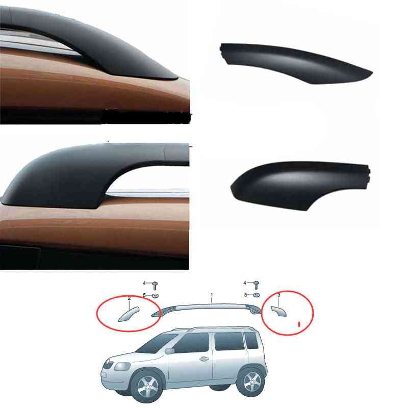 Front Rear Roof Rack Cover & Bar Roof Rail End Shel