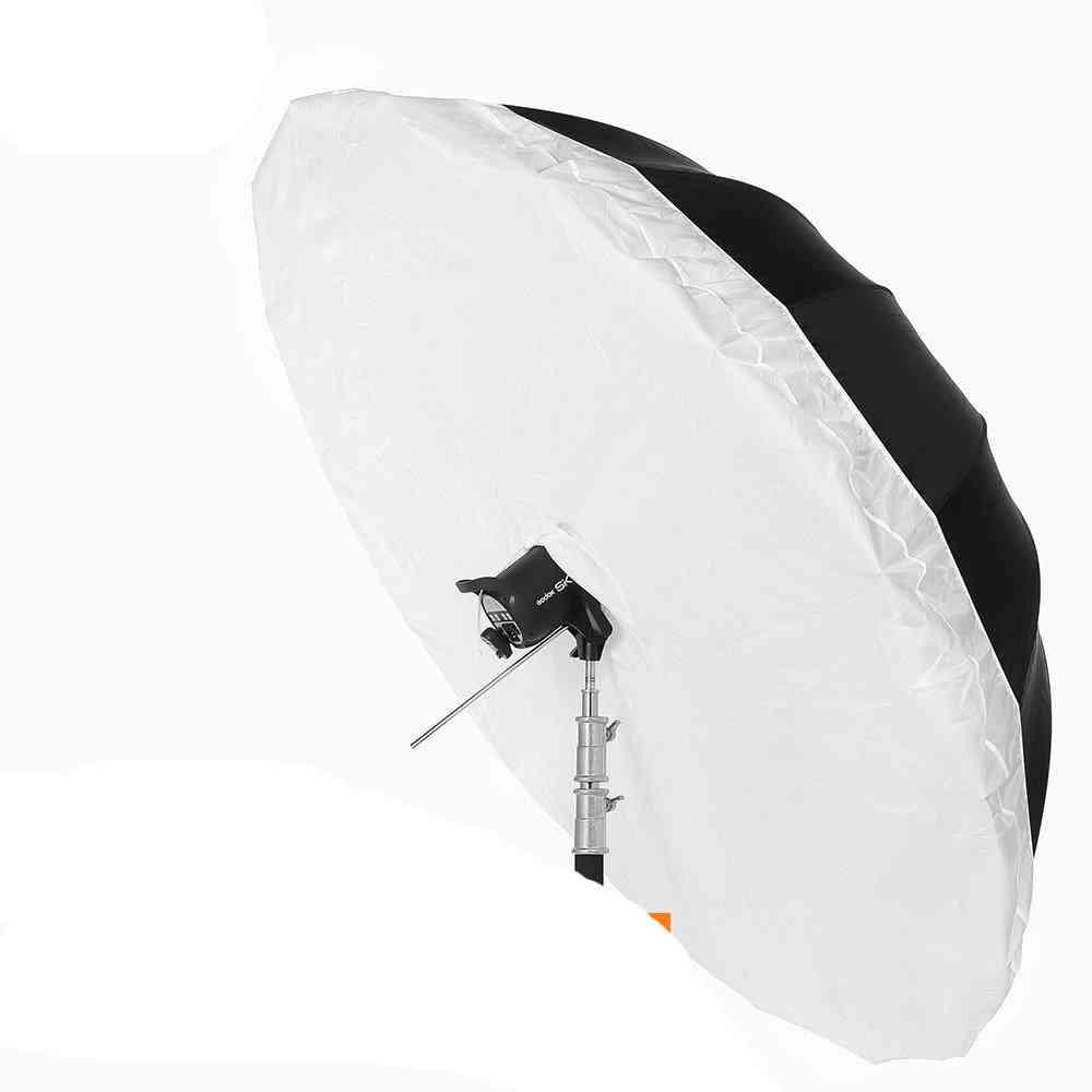 Black White Reflective Umbrella Studio Lighting With Large Diffuser Cover