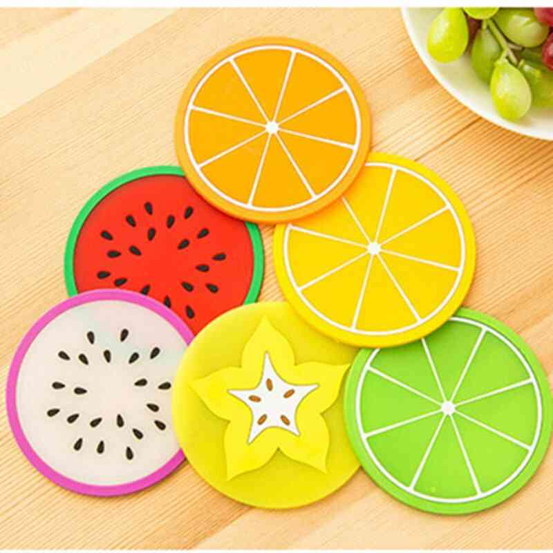 Fruit Shape Silicone Insulation Cup Pad Mat Holder