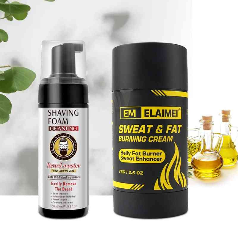 Sweat Fat Burning Cream Belly Fat Beard Shaving Foam
