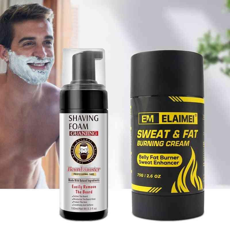 Beard Shaving Foam With Sweat Fat Burning Cream