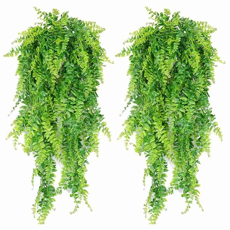 Artificial Hanging Vines Ferns Plants Fake Ivy Leaves Wall Decoration