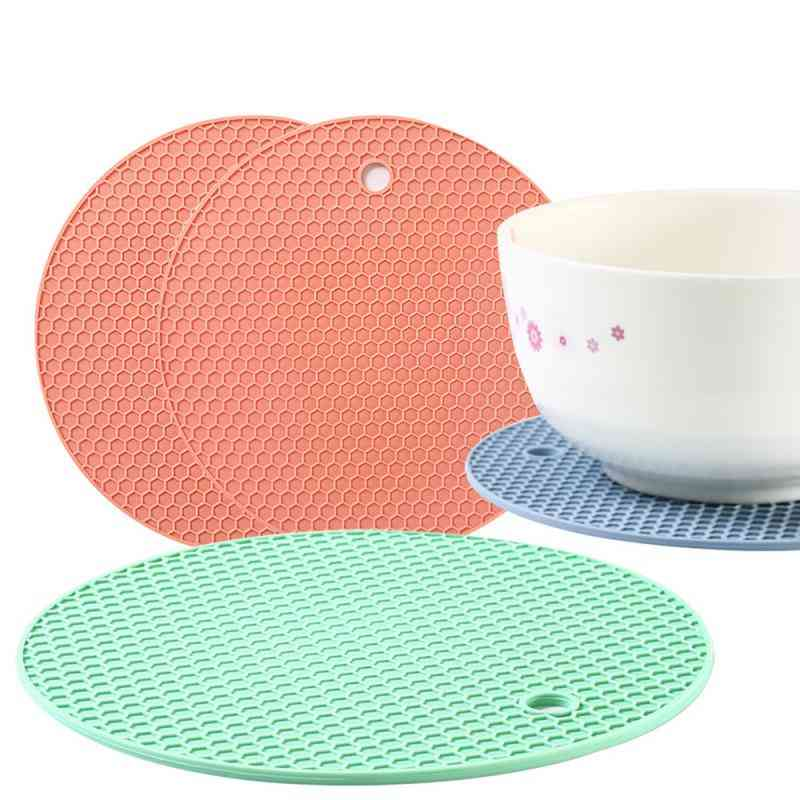 Round Heat Resistant Silicone Mat. Drink Cup Coasters