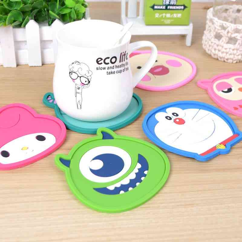 Cute Cartoon Anime Silicone Cup Mat, Coffee Placemat, Drink Coaster