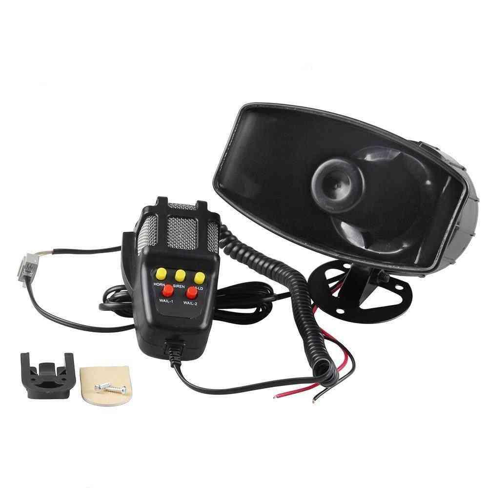 Car Alarm Police Fire Megaphone Siren Horn Pa Speaker Mic System Kit