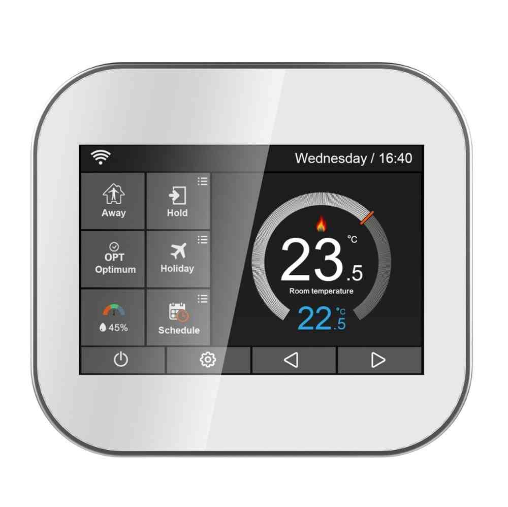Wifi Color Touch Screen Thermostat For Boiler