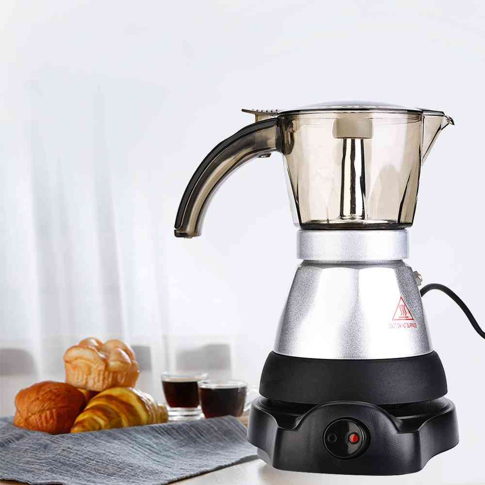 220v 3 To 6 Cup Top Moka Coffee Pot Percolators, Filter Cartridge Electrical Eu Plug