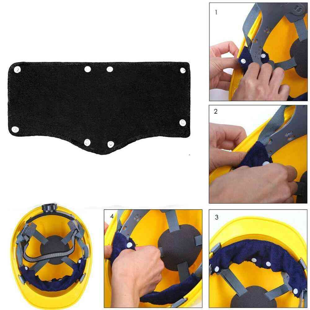 Hard Hat Replacment Sweatband, Safety Outdoor Tool, Soft Worker Snap-on Type Accessories, Work Place Helmet