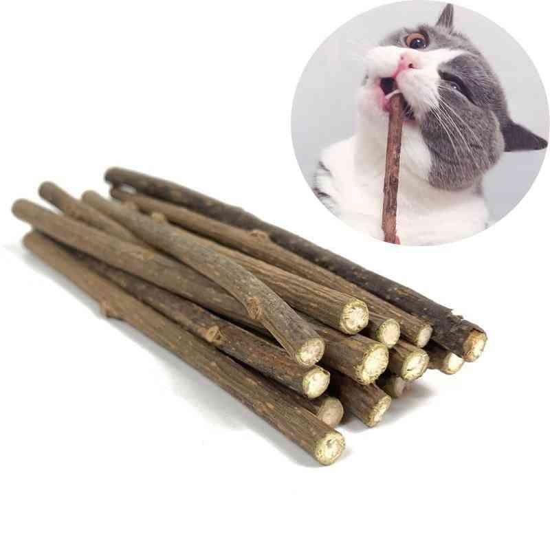 Natural Catnip Pet Cat Molar Toothpaste Stick