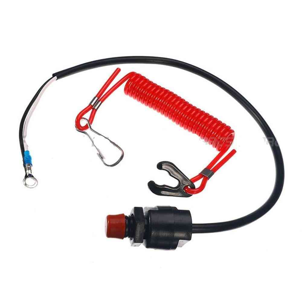 Outboard Engine Kill Switch Key Rope Safety Lanyard Tether