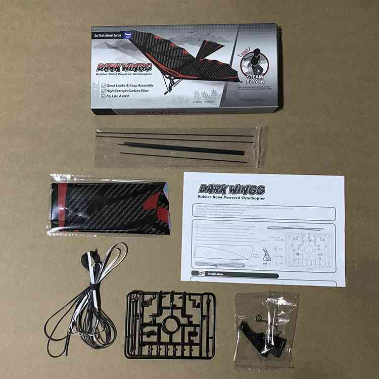 Eagle Carbon Fiber Imitate Birds Assembly Flapping Wing Flight, Diy Model Aircraft, Plane Toy