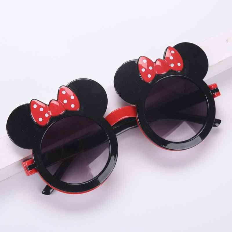 Cartoon Sunglasses Flip Cute Red Bow Travel Children Sun Visor Glasses Frames