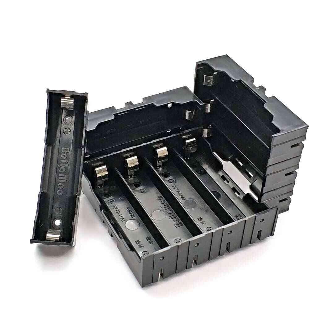 New Black  Section Plastic Battery Case