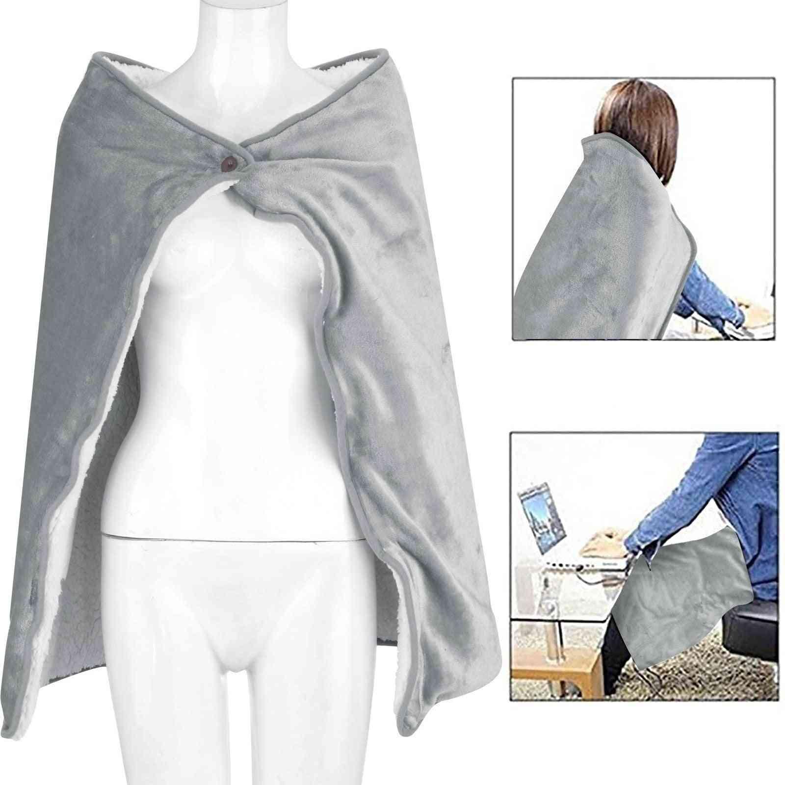 Usb Heated Electric Warming Shawl Lap Blanket