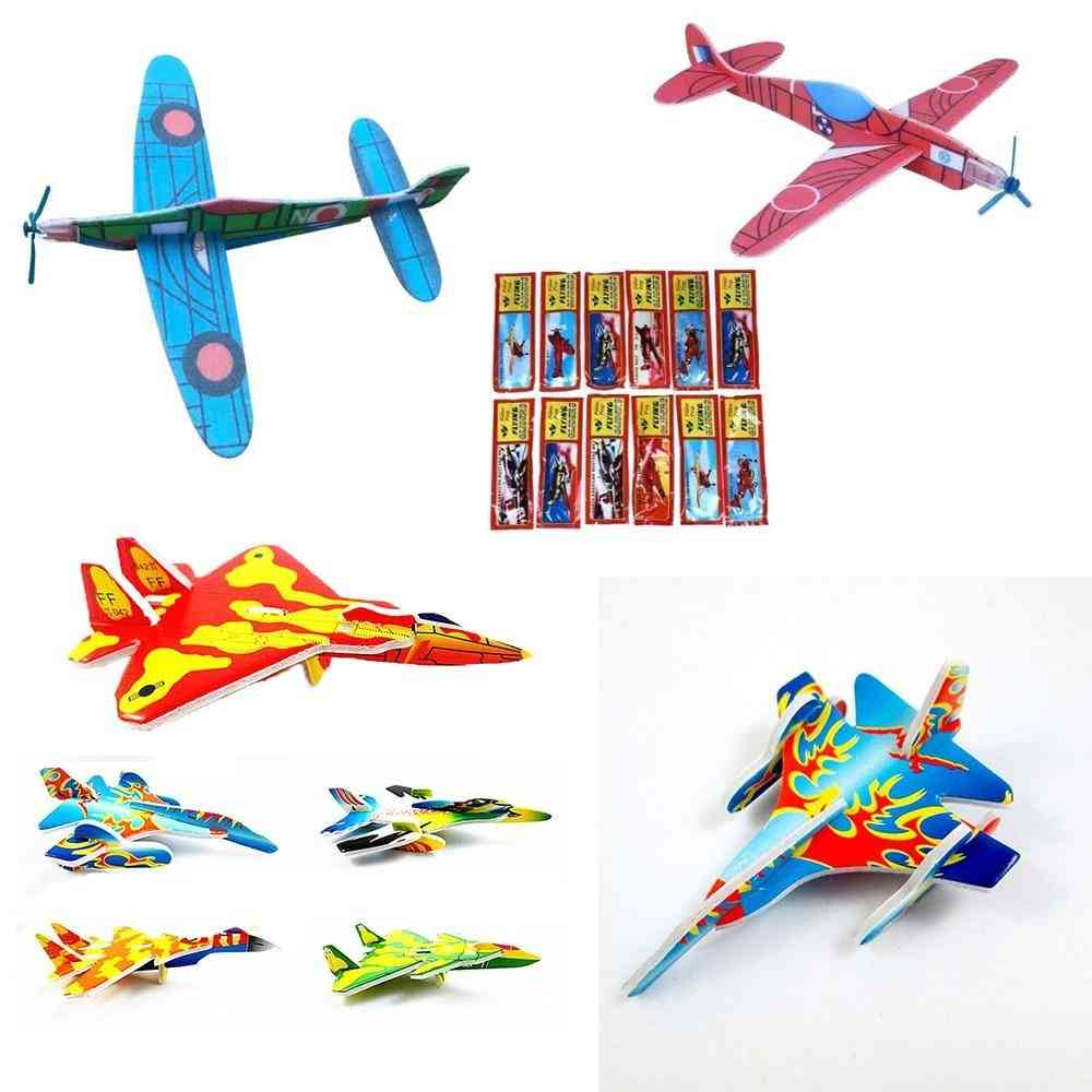 3d Diy Hand Throw Flying Glider Planes, Foam Aeroplane, Party Bag Fillers,s, Kids, Model Game