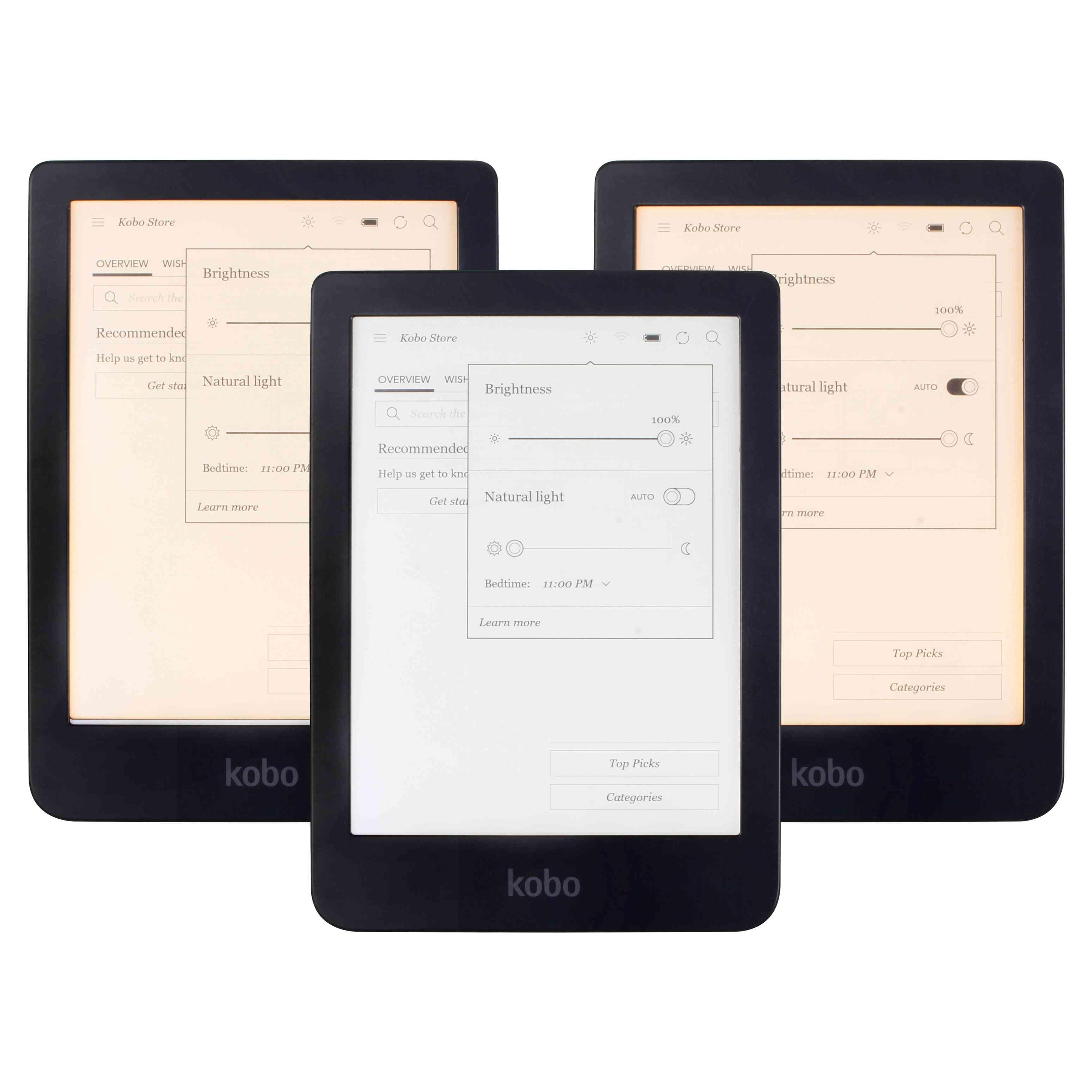 Touch Screen E Book Reader, E-ink, Front Light